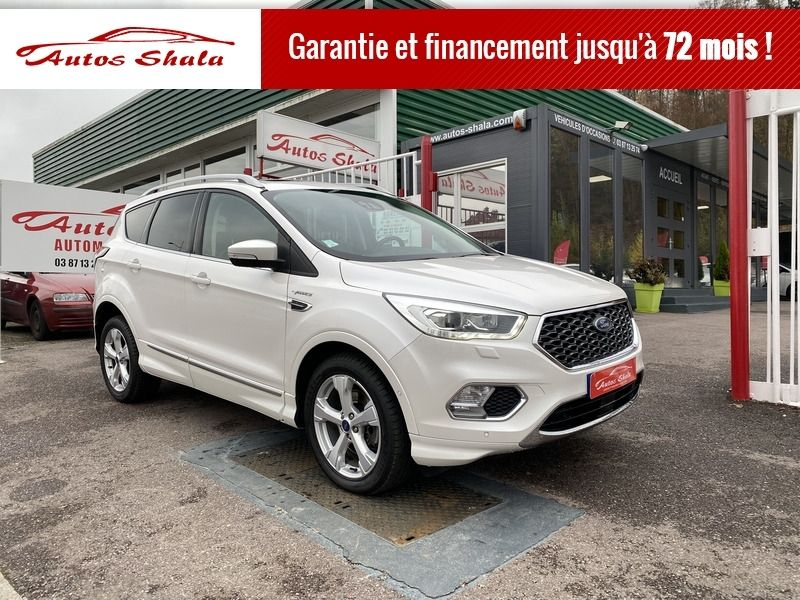 Ford KUGA 2.0 TDCI 180CH STOP&START VIGNALE 4X4 POWERSHIFT Diesel BLANC Occasion à vendre